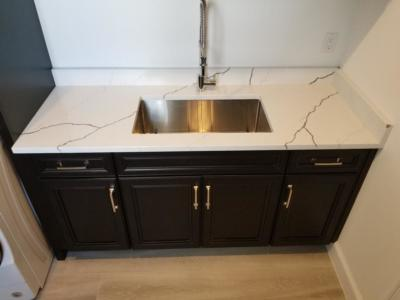 Oceanside Cabinets Bathroom Vanity Cabinet  Melbourne Beach, Florida Front View Looking Down