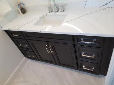 Oceanside Cabinets Bathroom Vanity Cabinet  Melbourne Beach, Florida front view