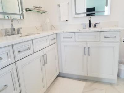 Oceanside Cabinets Bathroom Vanity Cabinet  at a home in Melbourne Beach Florida
