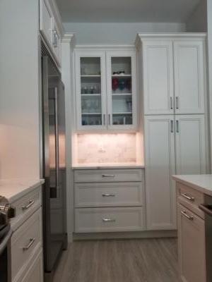 Oceanside Cabinets Kitchen Melbourne Beach, Florida Open Cabinet