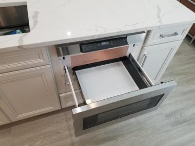 Oceanside Cabinets Kitchen  Pull Out Microwave Melbourne Beach, Florida