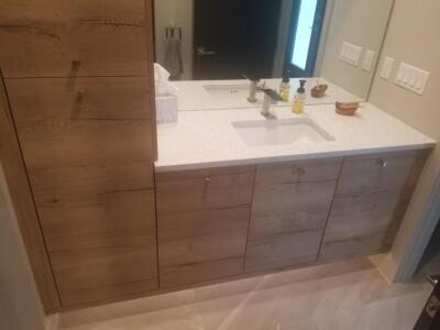 Oceanside Cabinets Palm Bay Bathroom Vanity Installation at Silva