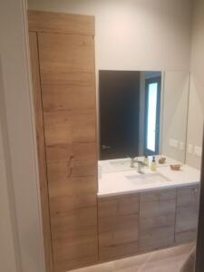 Oceanside Cabinets Palm Bay Bathroom Vanity  . Installation at Silva Home