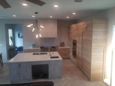 Oceanside Cabinets Palm Bay Kitchen Cabinet View Installation at Silva Home