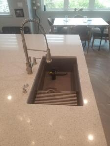 Oceanside Cabinets Palm Bay Kitchen Cabinets Installation at Silva Home Granite View With Sink