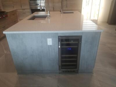 Oceanside Cabinets Palm Bay Other Room Cabinets Installation at Silva Home Bar Top With Cooler