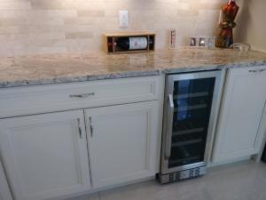 Oceanside Cabinets -Spencer Kitchen Built In Wine Cooler